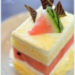 MIKADOの西瓜のショートケーキ。