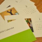 仕上がったのはカレンダー。