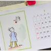 カレンダーを眺め。