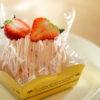 パティスリー フェリーチェのイチゴのモンブラン。