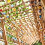 川越氷川神社の夏の風物詩・縁むすび風鈴回廊。