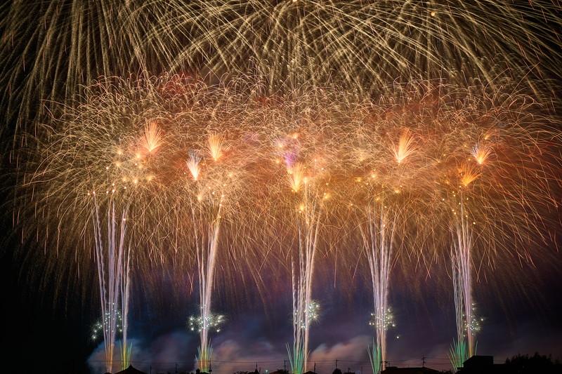 藤岡市制施行65周年記念花火大会 -群馬県藤岡市